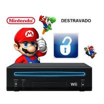 Nintendo Wii Black Destravado / Desbloqueado Novo + Brindes