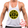 Regata Super Cavada Musculação Golds Gym Estampa Grande