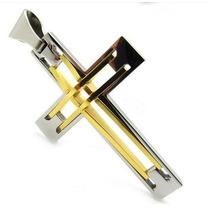 Colar Masculino Crucifixo Cruz Aço Inoxidável + Corrente
