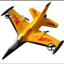Avião Planador F16 - 4-ch Radio Controle Remoto Em Epp