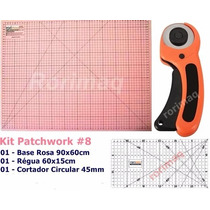 Kit Base De Corte + Régua + Cortador Patchwork Scrapbook #8