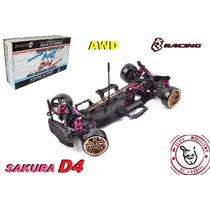 Sakura D4 - Awd - Kit 1/10 - 3 Rancing - Pronta Entrega