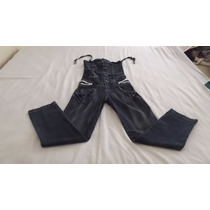 Macacão Jeans C/ Elastano Nº12 Semi-novo