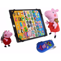 Tablet Infantil Peppa Pig + Chaveiro + Celular + Pelucia