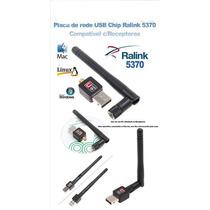 Mini Adaptador Wireless Usb Wifi Com Antena, Ralink 5370