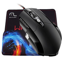 Mouse Multilaser Warrior 3.200 Dpi Laser Gamer + Mousepad