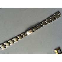 Pulseira Rolex Fem Pinada 7204 Rara Ref 1-69 Elos Rebitados