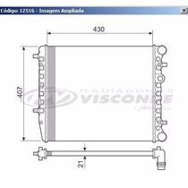 12516 Radiador De Agua Fox Polo Crossfox Spacefox 1.0 1.6