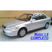 Honda Civic Lx 1.6 Manual, Completo, Prata, Ano 2000