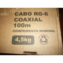 Cabo Coaxial Rg6 100 Mts + 10 Conectores