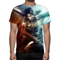 Camisa, Camiseta Game Tomb Raider Lara Croft Estampa Total