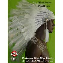 Cocar Indigena Americano Pena Branca Caboclo Umbanda