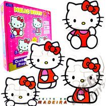 Quebra Cabeça Infantil De Madeira Progressivo Hello Kitty