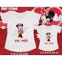 Camisetas Tal Mãe Tal Filha Tshirt Kit Com 2 Minnie Vermelha