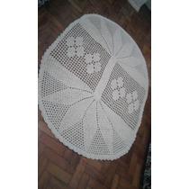Enxoval Crochê Em Barbante - Tapete De Sala Flores