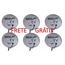 Kit 6 Antenas Completas Oi Tv + Lnb + Frete Grátis