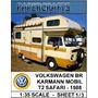Miniatura De Papel - Veículos - Vw Kombi - Safari