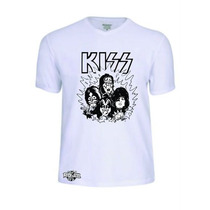 Camisas Camisetas Banda Kiss Baby Look Rock Pop Rock