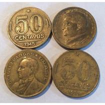 Moeda Antiga De 50 Centavos 1944