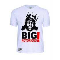 Camisas Notorius Big Rap Rapper Banda Baby Look Camisetas
