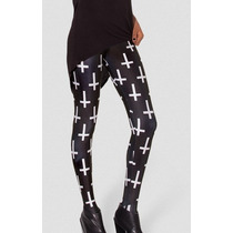 Legging Importada - Estampa Black Milk - Cruz / Cruzes