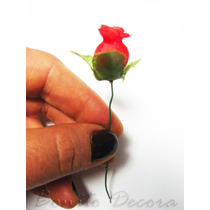 144 Mini Rosas Vermelhas - Cetim Rosinhas Artificiais Tiaras