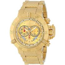 Relógio Invicta Subaqua Noma Iii Dourado 5403 (5404)