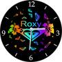 Relógio De Parede Em Vinil, Roxy