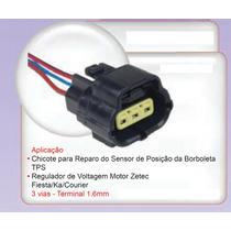Chicote Plug 2 Vias Sensor Pos Borboleta Reg Volt Ford Zetec