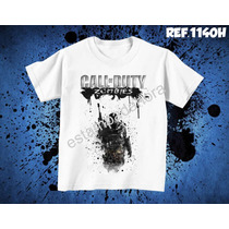 Camiseta Call Of Duty Jogos De Ação Games Ps3 Ps4 X-box Pc