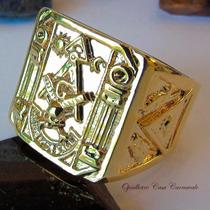 Anel Maçonaria Em Banho De Ouro 18k Cod 2233 Ojoalheiro