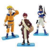 Kit 3 Bonecos Naruto Gaara Sasuke Coleção Pronta Entrega