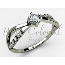 Anel Noivado Diamante 10 Pontos + 14 Diamantes.