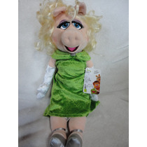 Miss Piggy Grande 48 Cm - Disney Store Original Com Patch