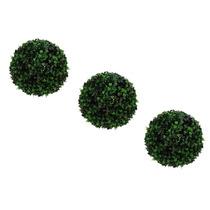 Buchinho Artificial - 3 Unid De 23 Cm - Bolas Gramas Plantas
