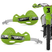 Protetor Mao Pro Tork Hps Aluminio Trilha Motocross Verde