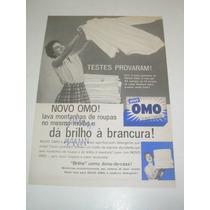 ( L - 290/ P ) Propaganda Antiga Sabão Em Pó Omo