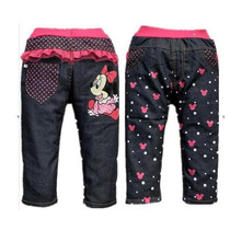 Calça Jeans Minnie - Menina- Pronta Entrega