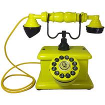 Telefone Antigo Vintage Retro Nelphone Lord Amarelo