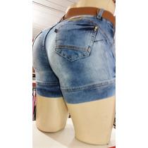 Bermuda Meia Coxa Jeans Lycra. Direto Com O Fabricante