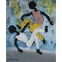 Quadro De Sylvio Pinto: Capoeira - Óleo Sobre Eucatex