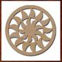 Mandala Mdf Decorativa Quadro Escultura Parede Recorte 50cm