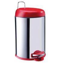 Lixeira 5l Inox C/ Plástico Vermelha Decorline Brinox