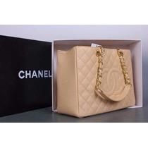 Bolsa Chanel Linda Shopper Gst 100% Original Couro Na Caixa