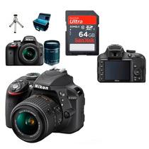 Câmera Nikon D3300 Lente 18-55 +64gb Class10 + Bolsa + Tripé