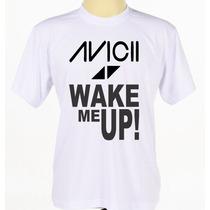 Camiseta Camisa Branca Customizada Personalizada Dj Avicii