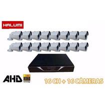 Dvr Ahd-m 16 Canais Tríbido + 16 Câmeras Ahd-m 1.3mp 40m