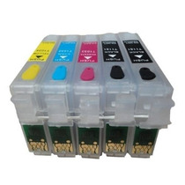 Kit 5 Cartuchos Recarregáveis T1110 / Tx515 Fn - Sem Tintas