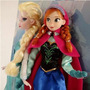 2 Bonecas + Olaf - Princesa Ana E Rainha Elsa Disney Frozen