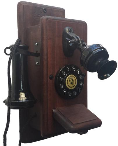 Telefone Antigo Retro Vintage Minitel Mogno